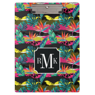 Neon Abstract Tropical Texture Pattern Clipboard