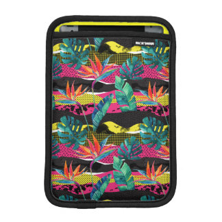 Neon Abstract Tropical Texture Pattern iPad Mini Sleeve