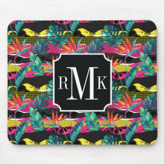 Neon Abstract Tropical Texture Pattern Mouse Pad
