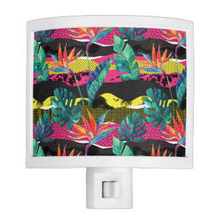 Neon Abstract Tropical Texture Pattern Night Lights