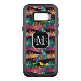 Neon Abstract Tropical Texture Pattern OtterBox Commuter Samsung Galaxy S8+ Case