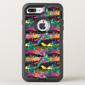 Neon Abstract Tropical Texture Pattern OtterBox Defender iPhone 8 Plus/7 Plus Case