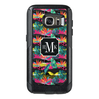 Neon Abstract Tropical Texture Pattern OtterBox Samsung Galaxy S7 Case