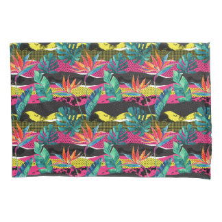 Neon Abstract Tropical Texture Pattern Pillowcase