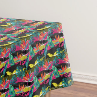 Neon Abstract Tropical Texture Pattern Tablecloth