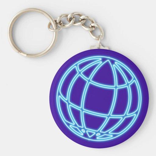 Neon advertisement neon sign globe globe key chain