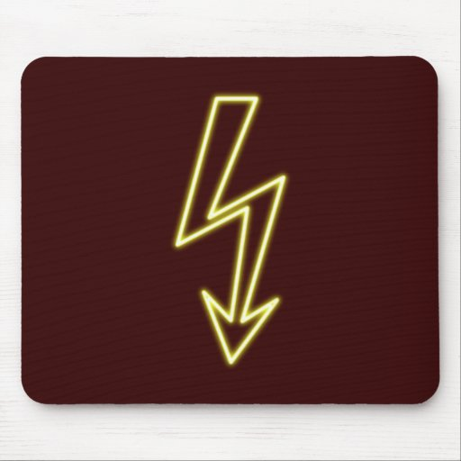 Neon advertisement neon sign lightning flash mousepads