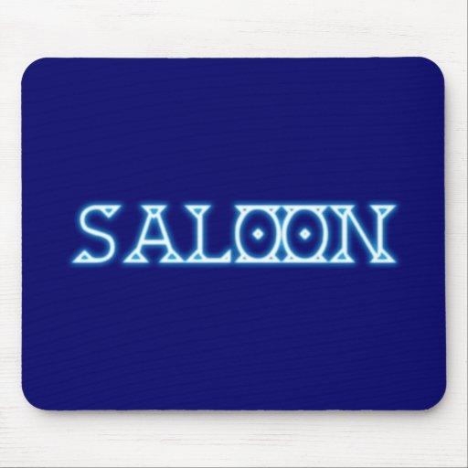 Neon advertisement neon sign saloon mousepad
