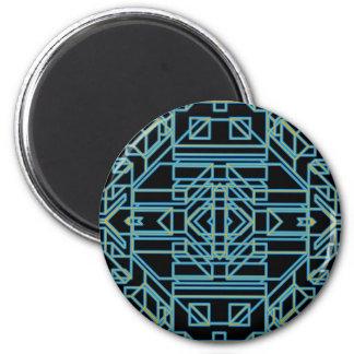 Neon Aeon 5 2 Inch Round Magnet