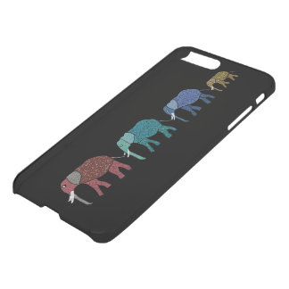 Neon African Elephants iPhone 7 Plus Case