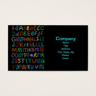 Neon Alphabet Business Card