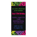 Neon Animal Print Colourful Zebra Leopard Party