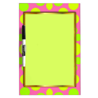 NEON APPLE GREEN AND PINK GIRLY DRY ERASE BOARD