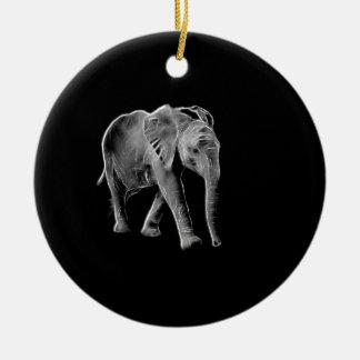 Neon Baby Elephant Ceramic Ornament
