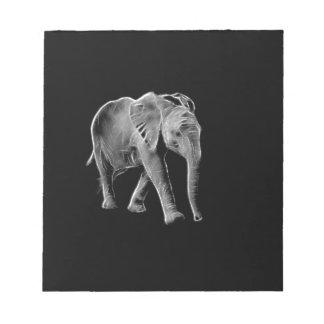 Neon Baby Elephant Notepad