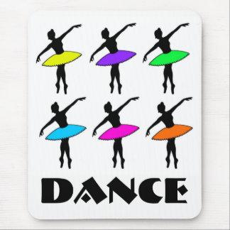Neon Ballerinas Ballet Tutu Dance Teacher Pointe Mouse Pad