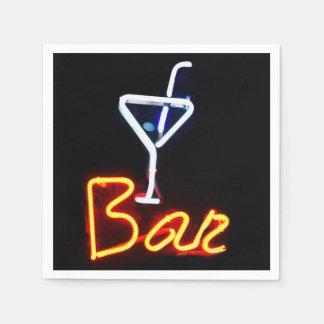 Neon Bar Sign Paper Napkin