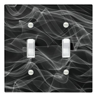 Neon Black and White Digital Pattern - COOL Light Switch Cover