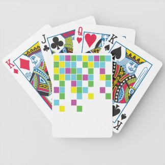 Neon Blocks Bicycle Playing Cards