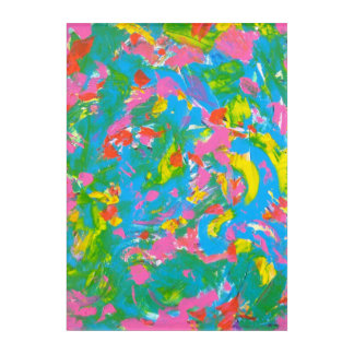 Neon Bloom-Hand Painted Abstract Art Brushstrokes