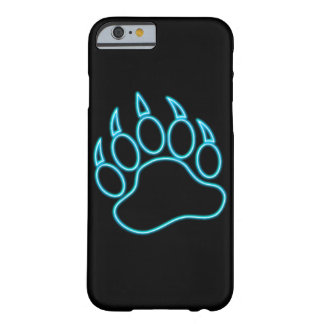 Neon Blue Bear Paw Barely There iPhone 6 Case