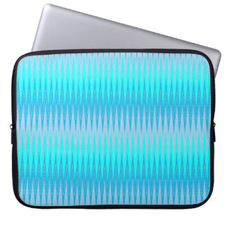 Neon Blue Chevron Laptop Sleeve