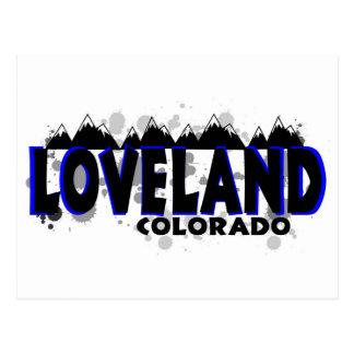 Neon blue grunge Loveland Colorado Postcard