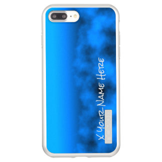 Neon Blue Night Sky With Black Insert Name Incipio DualPro Shine iPhone 7 Plus Case