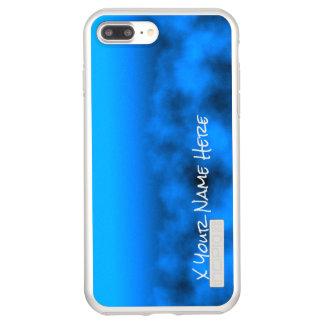 Neon Blue Night Sky With Black Insert Name Incipio DualPro Shine iPhone 8 Plus/7 Plus Case