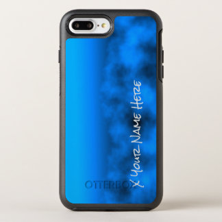 Neon Blue Night Sky With Black Insert Name OtterBox Symmetry iPhone 8 Plus/7 Plus Case