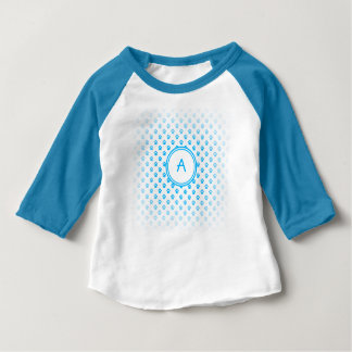 Neon Blue Paw Print Raglan Baby Shirt