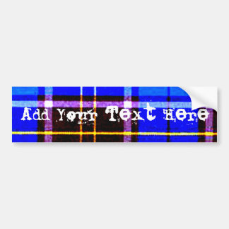 Neon Blue Plaid, Punk's Not Dead Bumper Sticker