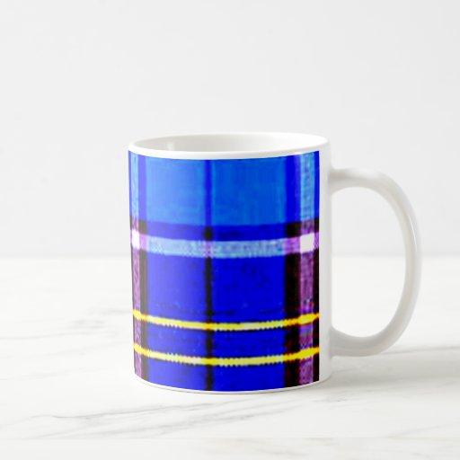Neon Blue Plaid, Punk's Not Dead Coffee Mug