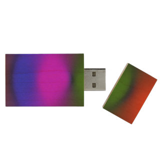 Neon Blue, Purple, Green, Orange Maple USB Drive Wood USB 2.0 Flash Drive