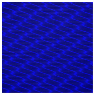 Neon Blue Wavy Lines Fabric Pattern