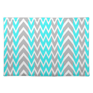 Neon Blue With Gray Fins Placemat