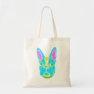 Neon Boston Terrier Tote Bag