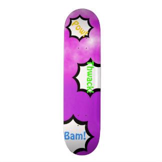 Neon Bright Purple Pink Sky Customizable Deck Skateboard Decks
