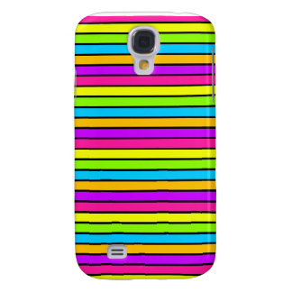 Neon Bright Stripes iPhone 3