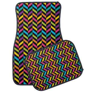 Neon Bright trendy fashion colorful design 1 Car Mat