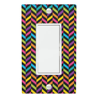 Neon Bright trendy fashion colorful design 1 Light Switch Cover