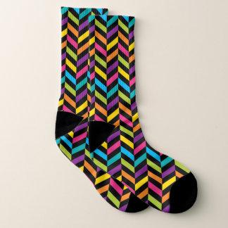 Neon Bright trendy fashion colorful design 1 Socks