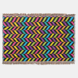 Neon Bright trendy fashion colorful design 1 Throw Blanket