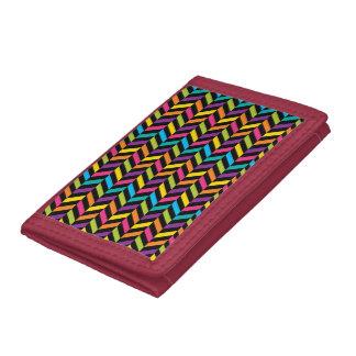 Neon Bright trendy fashion colorful design 1 Tri-fold Wallets