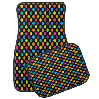 Neon Bright trendy fashion colorful design 3 Car Mat