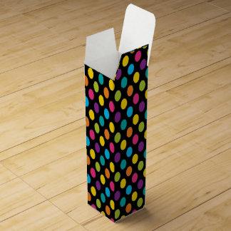 Neon Bright trendy fashion colorful design 3 Wine Gift Box