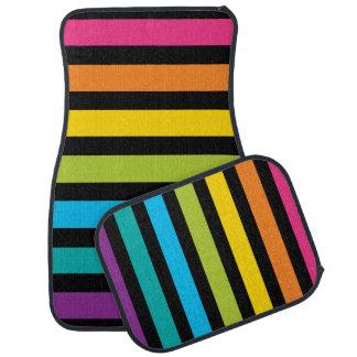 Neon Bright trendy fashion colorful design 4 Car Mat