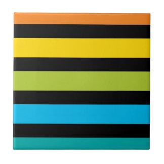 Neon Bright trendy fashion colorful design 4 Tile