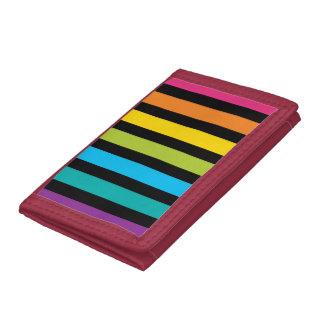 Neon Bright trendy fashion colorful design 4 Trifold Wallets