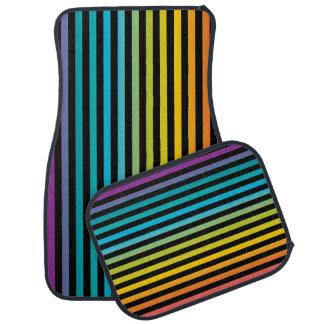 Neon Bright trendy fashion colorful design 6 Car Mat